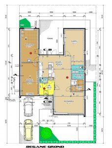 Plattegrond levensloopbestendig woonhuis met zorg-slaapkamer