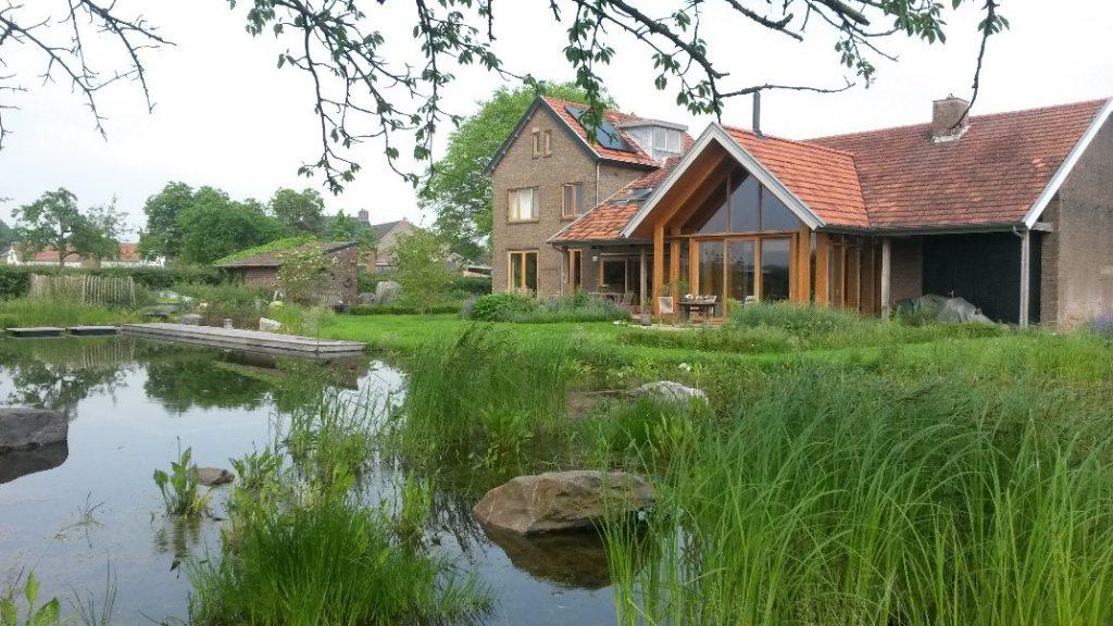 Architectonische toepassing passieve zonneenergie bij woonboerderij
